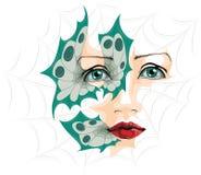Ilustração abstrata dos olhos imagem de stock royalty free