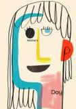 Ilustração abstrata e colorida sobre o dia do ` s da mamã ilustração stock