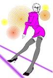 Ilustração abstrata em um tema do clube. ilustração do vetor