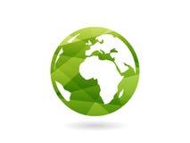 Ilustração abstrata geométrica colorida do conceito do molde do gráfico de vetor da esfera do globo da terra isolada no fundo bra Imagem de Stock