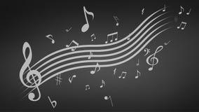 Ilustração abstrata preta do fundo da música ilustração stock