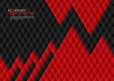 Ilustração abstrata preta e vermelha do vetor do fundo, disposição do molde de tampa, inseto do negócio, luxo de couro da textura ilustração stock