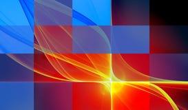 Ilustração abstrata vermelha Foto de Stock Royalty Free