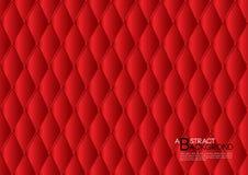 Ilustração abstrata vermelha do vetor do fundo, disposição do molde de tampa, inseto do negócio, luxo de couro da textura ilustração royalty free