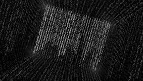 Ilustração abstrata Vetor que flui o fundo do código binário fotos de stock