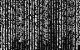 Ilustração abstrata Vetor que flui o fundo do código binário foto de stock