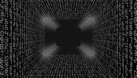 Ilustração abstrata Vetor que flui o fundo do código binário imagem de stock