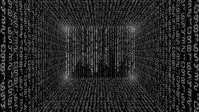 Ilustração abstrata Vetor que flui o fundo do código binário imagem de stock royalty free