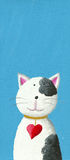 Gato bonito com colar do coração Foto de Stock