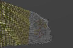 Ilustração agradável da bandeira 3d do Dia do Trabalhador - a imagem digital da bandeira isolada Holy See feita de pontos de inca ilustração do vetor
