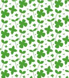 Ilustração agradável simples do teste padrão da grama verde fresca, folha, minimalismo Pode ser usado para cart?o, insetos e cart ilustração stock
