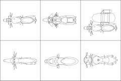 Ilustração ajustada ajustada do vetor da lona de pintura da motocicleta ilustração stock