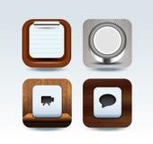 Ilustração ajustada do ícone de Apps Fotografia de Stock Royalty Free