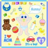 Ilustração ajustada do bebê Imagens de Stock