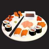 Ilustração ajustada do sushi Ilustração do Vetor
