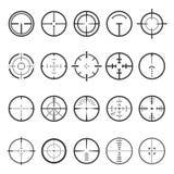 Ilustração ajustada do vetor do ícone dos Crosshairs no fundo branco ilustração royalty free