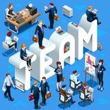 Ilustração ajustada do vetor de Team Isometric People 3D Foto de Stock Royalty Free