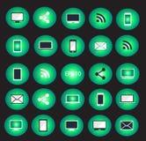 Ilustração ajustada do vetor do ícone dos dispositivos de Digitas Imagens de Stock