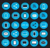 Ilustração ajustada do vetor do ícone dos dispositivos de Digitas Fotos de Stock