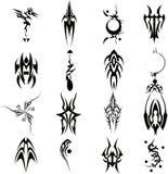 Ilustração ajustada 2 do vetor tribal da tatuagem Foto de Stock Royalty Free