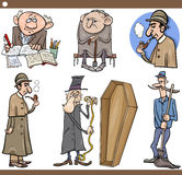 Ilustração ajustada dos desenhos animados dos povos retros Fotografia de Stock Royalty Free