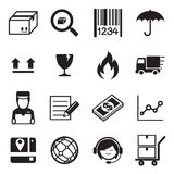 Ilustração ajustada logística & da entrega do ícone do vetor Fotografia de Stock