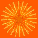 Ilustração alaranjada da estrela da luz da celebração Foto de Stock Royalty Free