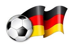 Ilustração alemão da bandeira do futebol Fotos de Stock Royalty Free