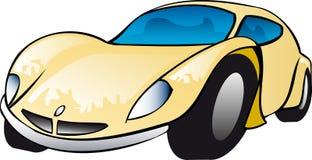 Ilustração amarela do carro de esportes Fotos de Stock
