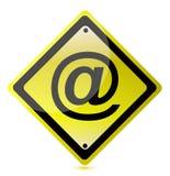 Ilustração amarela do sinal da ATT Imagens de Stock