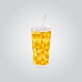 Ilustração amarela poligonal do copo de papel Fotos de Stock Royalty Free