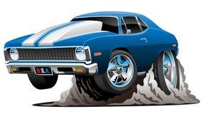 Ilustração americana clássica do vetor dos desenhos animados do carro do músculo Imagem de Stock Royalty Free