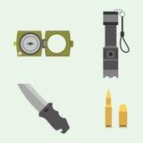 Ilustração americana do vetor do sinal da camuflagem da munição do lutador das forças militares da armadura das armas da arma ilustração do vetor