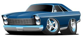 Ilustração americana grande do vetor dos desenhos animados do carro do músculo do estilo clássico dos anos sessenta ilustração royalty free