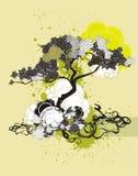 Ilustração & medalhão da árvore ilustração stock