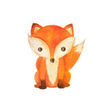 Ilustração animal das crianças da floresta da aquarela Fotos de Stock