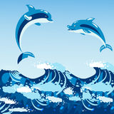 Ilustração animal do vetor dos animais selvagens marinhos aquáticos bonitos da água do mar do mamífero do azul de oceano da natur ilustração do vetor