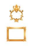 Ilustração antiga dos frames de retrato Fotografia de Stock
