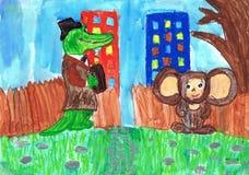Ilustração ao crocodilo animado do ` s dos Gena do filme Desenho do ` s das crianças ilustração do vetor