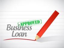 Ilustração aprovada da mensagem do empréstimo comercial Fotografia de Stock Royalty Free