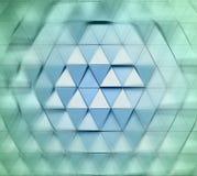 Ilustração arquitetónica abstrata do teste padrão 3D Fotografia de Stock Royalty Free