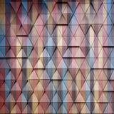 Ilustração arquitetónica abstrata do teste padrão 3D Imagem de Stock Royalty Free