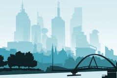 Ilustração Arranha-céus da cidade do esboço Conceito do negócio e do turismo com ilustração stock