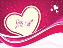 Ilustração artística abstrata do vetor do coração do Valentim Foto de Stock