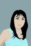 Ilustração asiática da mulher. Fotografia de Stock Royalty Free