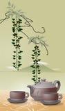 Ilustração asiática do chá ilustração royalty free