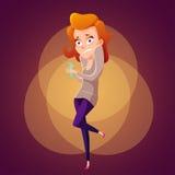 Ilustração assustado da mulher Fotografia de Stock Royalty Free