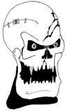 Ilustração assustador do crânio Imagem de Stock