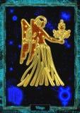 Ilustração astrológica: Virgem Imagens de Stock