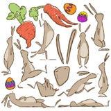 Ilustração ativa do vetor do caráter do coelhinho da Páscoa ilustração do vetor